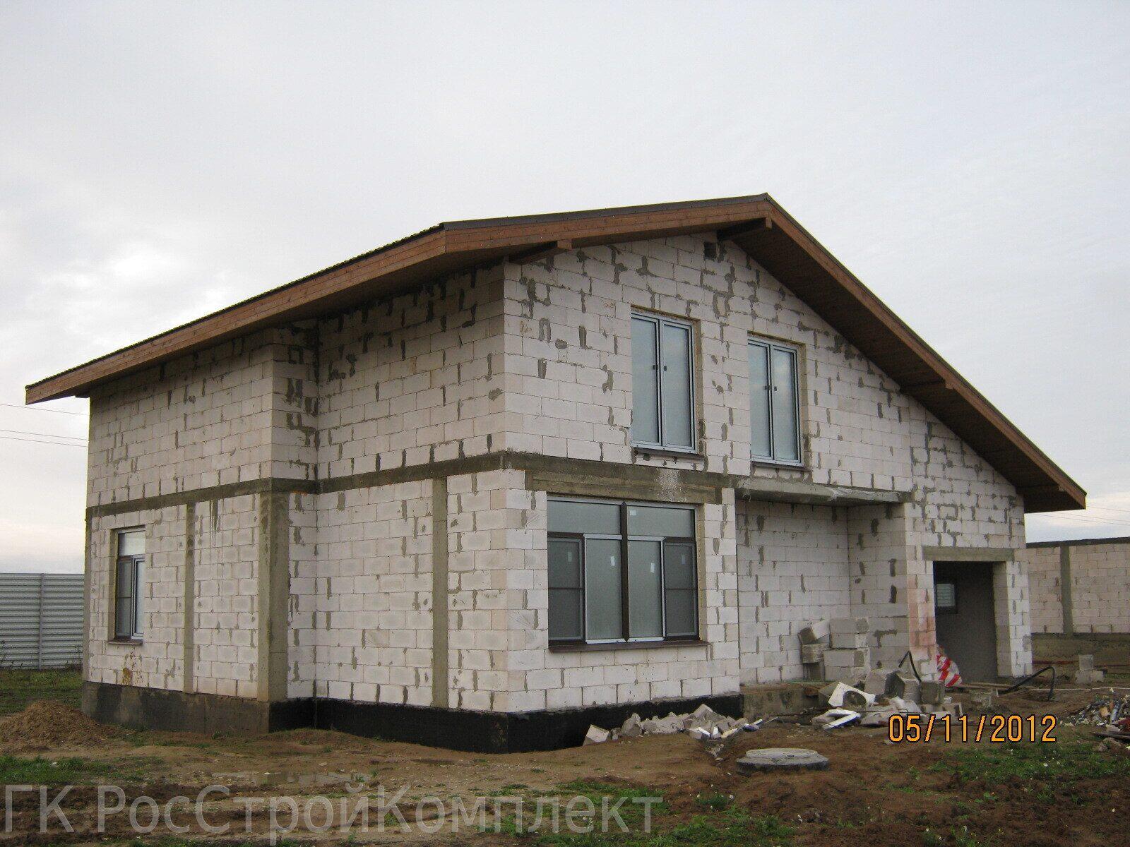 Недорогой дом из пеноблоков своими руками